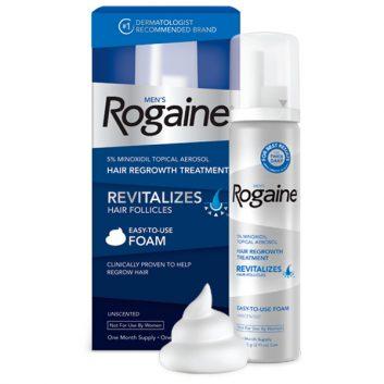 Minoxidil Rogaine Foam 5% Para Homens - 1 frasco