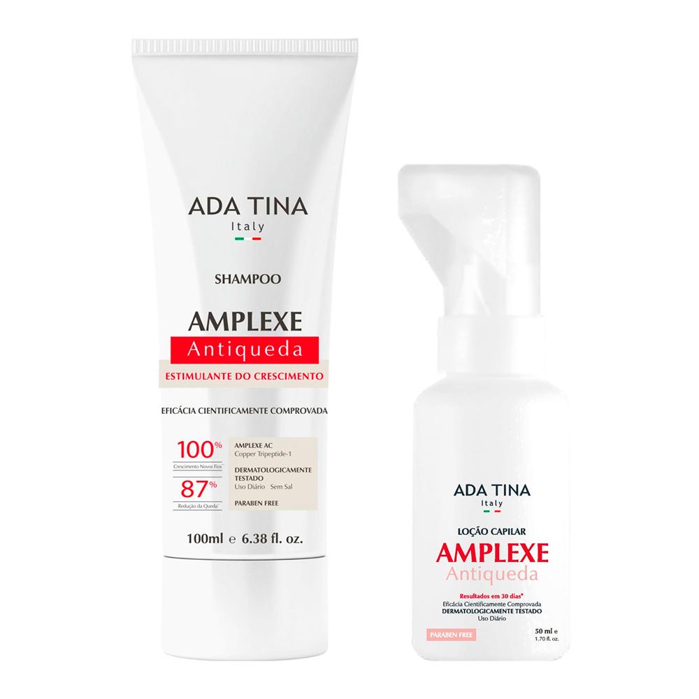 Shampoo e Loção Amplexe Antiqueda Ada Tina